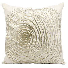 "kathy ireland by Nourison Metallic Swirl Accent Pillow - 19""W x 19""H, 8803795"