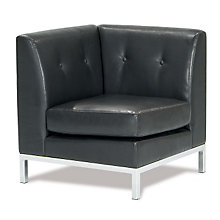 Wall Street Corner Chair in Faux Leather, AVN-210040