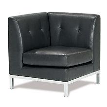 Wall Street Corner Chair in Faux Leather, AVN-210040