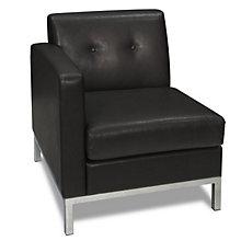 Wall Street Left Single Arm Chair in Faux Leather, AVN-211029
