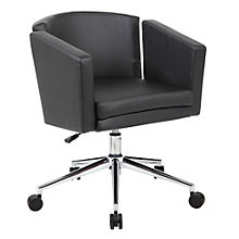 Metro Club Desk Chair in Faux Leather, 8804337