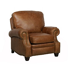 Barcalounger Longhorn II Leather Recliner, BAA-7-4727