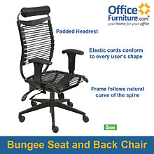 Seatflex Bungee Executive Chair with Headrest, BAL-11185