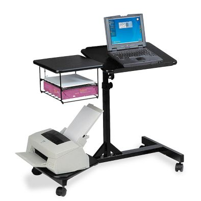 Adjustable Height Laptop Cart