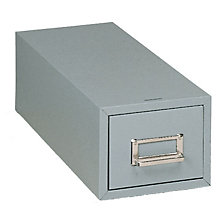 "Gray Single Drawer 3"" x 5"" Card File, BDY-1335-1"