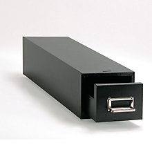 Black Single Drawer 4x6 Card File, BDY-1346-4
