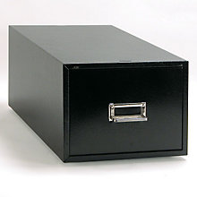 "Black Single Drawer 6"" x 9"" Card File, BDY-1369-4"