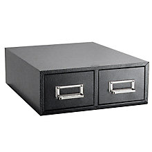 "Black Two Drawer 4"" x 6"" Card File, BDY-1646-4"