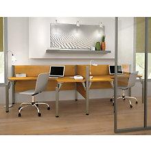 Pro Biz Side-by-Side Double L-Shaped Workstation, BES-100856A