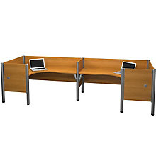 Pro Biz Back-to-Back Double L-Shaped Workstation with End Panels, BES-100857C