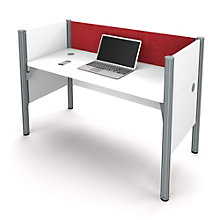 "Pro Biz Single Workstation with 43""H Tack Board Panel, 8804847"