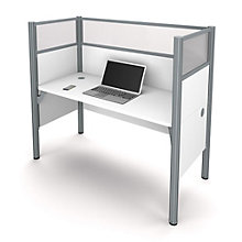 Pro Biz Single Workstation with Plexiglass Panels, BES-100871D
