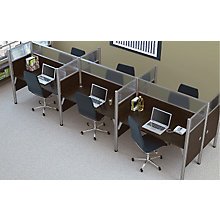 Pro Biz Six-Person Workstation with Plexiglass Panels, 8802835