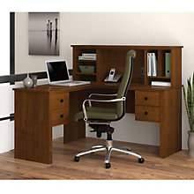 Somerville Compact L-Shaped Desk with Hutch, BES-10597