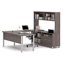 "Pro Linea U-Desk with Hutch - 71.1""W, 8804030"