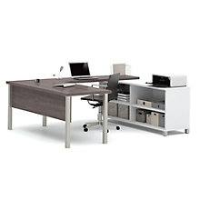 "Pro Linea U-Desk with Open Storage - 71.1""W, 8804026"