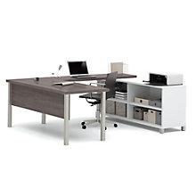 """Pro Linea U-Desk with Open Storage - 71.1""""W, 8804026"""