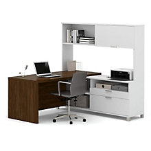 Pro Linea L-Desk with Hutch, OFG-LD0096