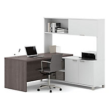 "Pro Linea L-Desk with Hutch - 71.1""W, 8804024"