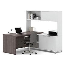 """Pro Linea L-Desk with Hutch - 71.1""""W, 8804024"""