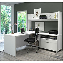 "Pro Linea L-Desk with Open Hutch - 71""W, 8807858"