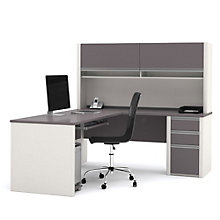 Connexion Reversible L-Desk with Hutch, OFG-EX0093