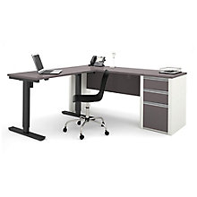 "Connexion L-Desk with Reversible Adjustable Height Return - 71.125""W, 8803933"