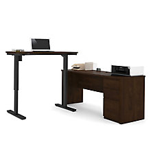 "Prestige Plus L-Desk with Reversible Adjustable Height Return - 71.125""W, 8803934"