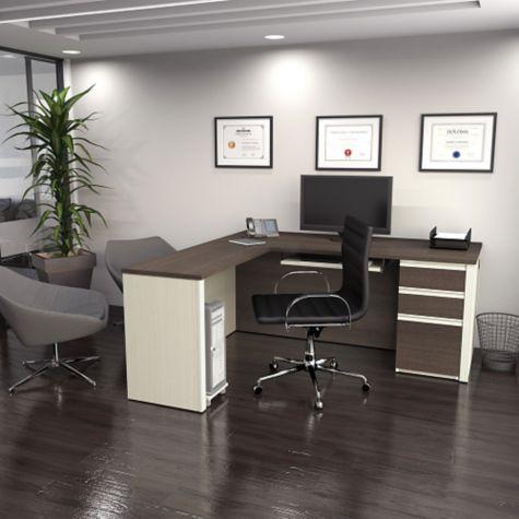 Bestar Reversible Executive L Desk 72 Quot W Officefurniture Com
