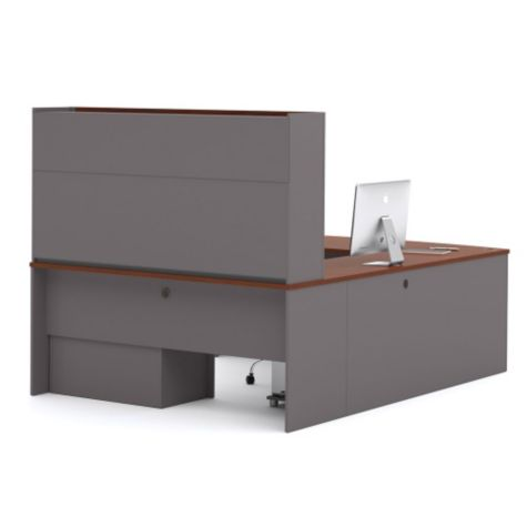 Connexion Reversible U Desk with Hutch by Bestar