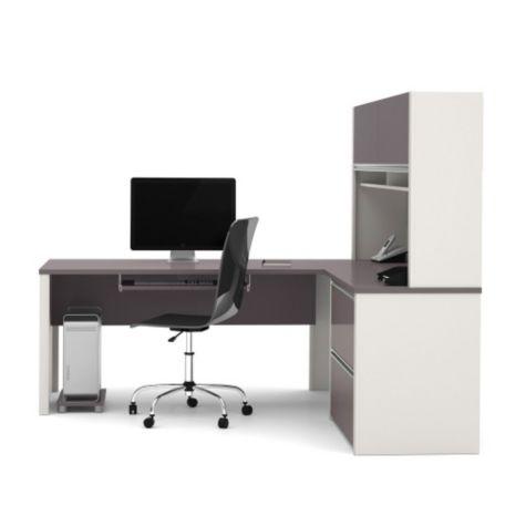 """Connexion Reversible L Desk w Hutch 71""""W"""