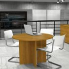 "Round Conference Table with 1"" Thick Top - 42"" Diameter, BES-65770"