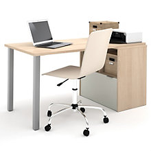"i3 Metal Leg Storage Desk - 60""W, 8802190"