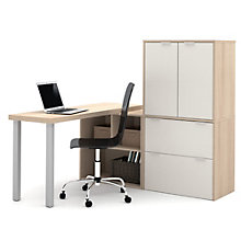 "i3 Table Desk With Storage Unit and Hutch - 60""W, 8802192"