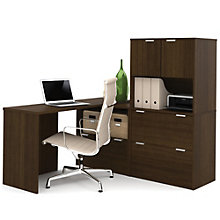 "i3 Table Desk With Filing Storage and Hutch - 60""W, 8802193"