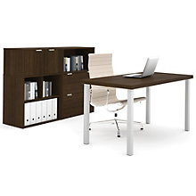 "i3 Metal Leg Table Desk With Storage Units - 60""W, 8802197"