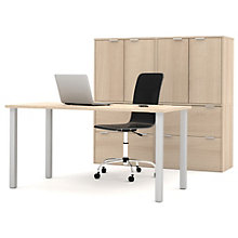 "i3 Solid Table Desk And Closed Filing Storage With Hutches - 60""W, 8802205"