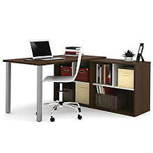 i3 Metal Leg L-Shaped Desk With Two Storage Units, 8802212