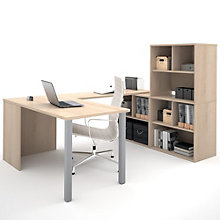 I3 Metal Leg U-Desk With Hutch, 8802217