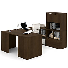i3 Solid U-Desk With Hutch, 8802218