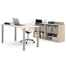 i3 Metal Leg Table Desk and Cubby Set, 8802221