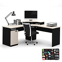 Hampton Corner Desk with Grid-It Desk Organizer, 8804555