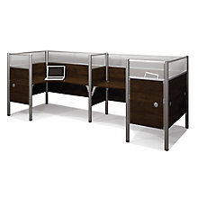 Pro Biz Back-to-Back L-Desks with Acrylic Privacy Panels, 8804735
