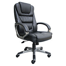 Montand High Back Bonded Leather Executive Chair with Knee Tilt, 8802407