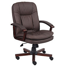 Madera Wood Frame Executive Chair in Bonded Leather, 8802028