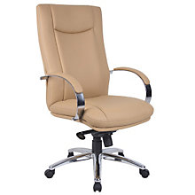 Electra High Back Vinyl Executive Chair, BOC-AELE72C-TN
