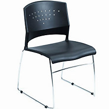 Wall Saver Stack Chair with Chrome Base, 8803526