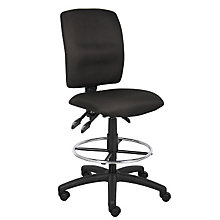 armless drafting stool - White Armless Office Chair