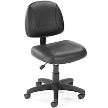 Sawyer Lite Duty Armless Task Chair in Bonded Leather, BOC-B305