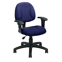 Tweed Fabric Task Chair with Arms, BOC-B316